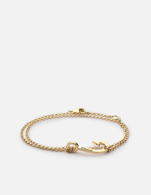 Mini Hook Chain Bracelet, 14K Gold | Women's Bracelets | Miansai