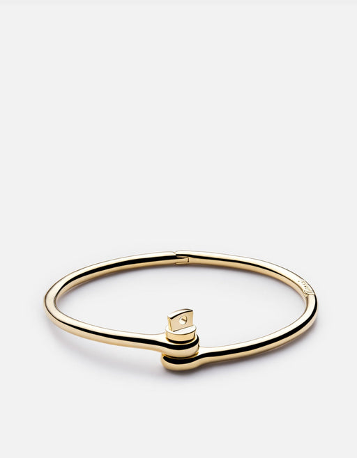 Thin Reeve Cuff, 10K Solid Gold