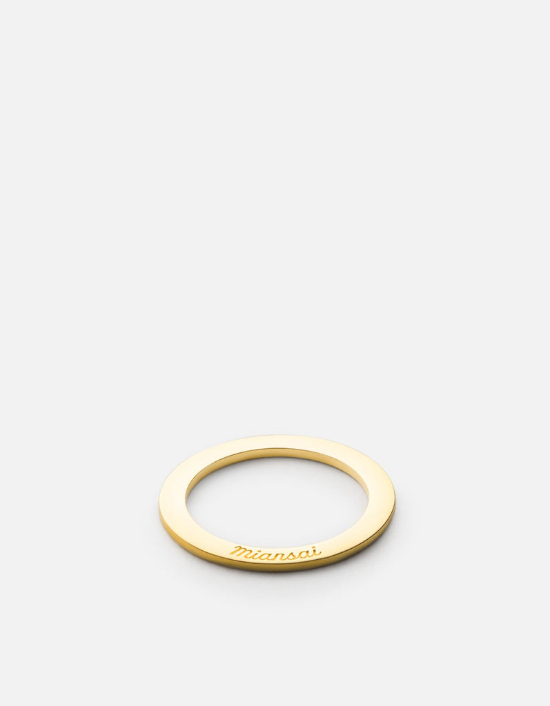 Washer Ring, 10k Gold