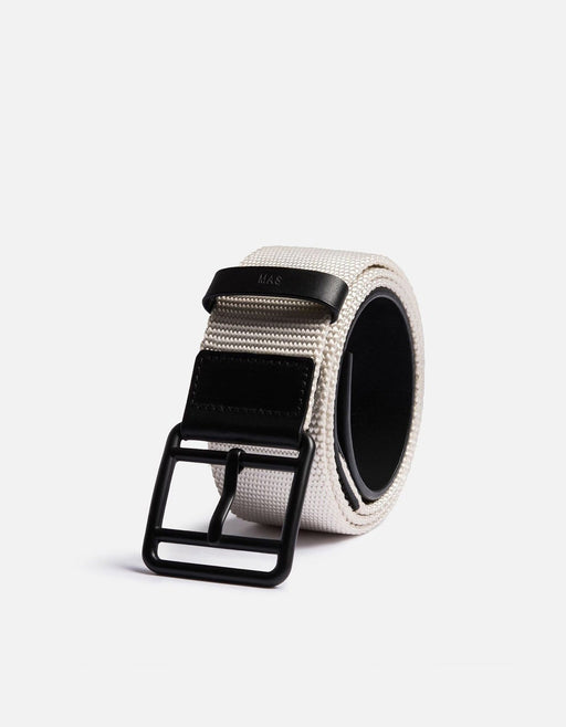 Webbing Belt, Black/White
