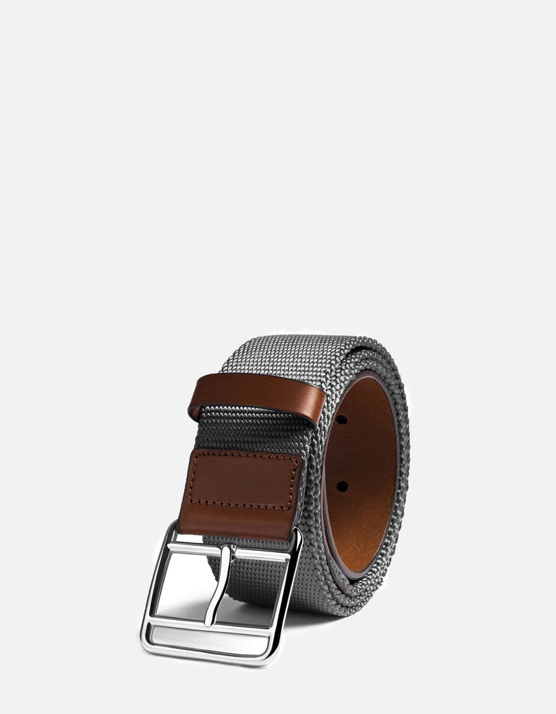 Webbing Belt, Cognac/Grey