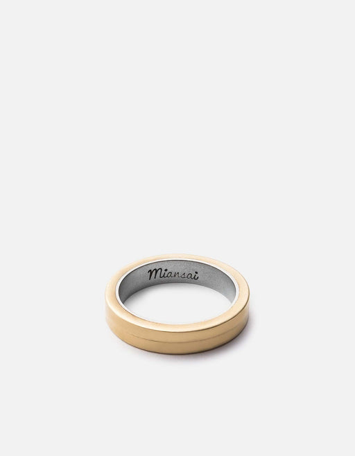 Miansai - Half-Layered Ring, Tumbled Brass