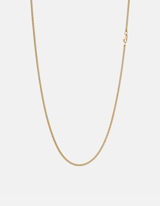 2mm Chain Necklace, 14k Gold