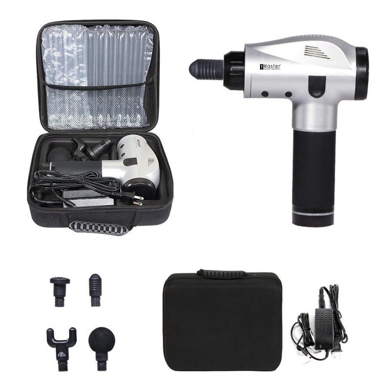 Master Massage Luxury 20 Speed Portable Deep Tissue Muscle Fascia Massage Gun with LED Screen and Package Box