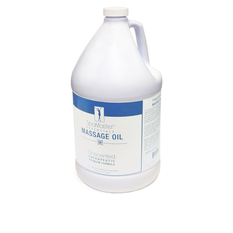 Master Massage - Organic, Unscented, Vitamin-Rich and Water-Soluble Massage Oil - 1 Gallon
