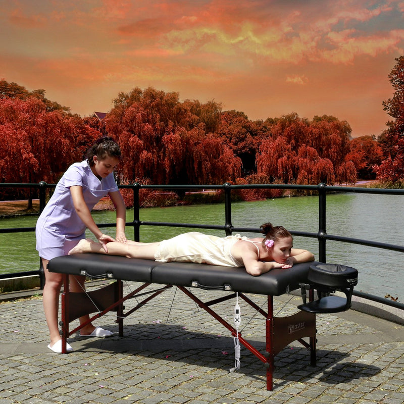 "Master Massage 30"" Roma Portable Massage Table Package with Therma-Top"