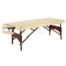 "Master Massage 28"" Argo Portable Massage Table Package in Cream Upholstery, Walnut Legs"