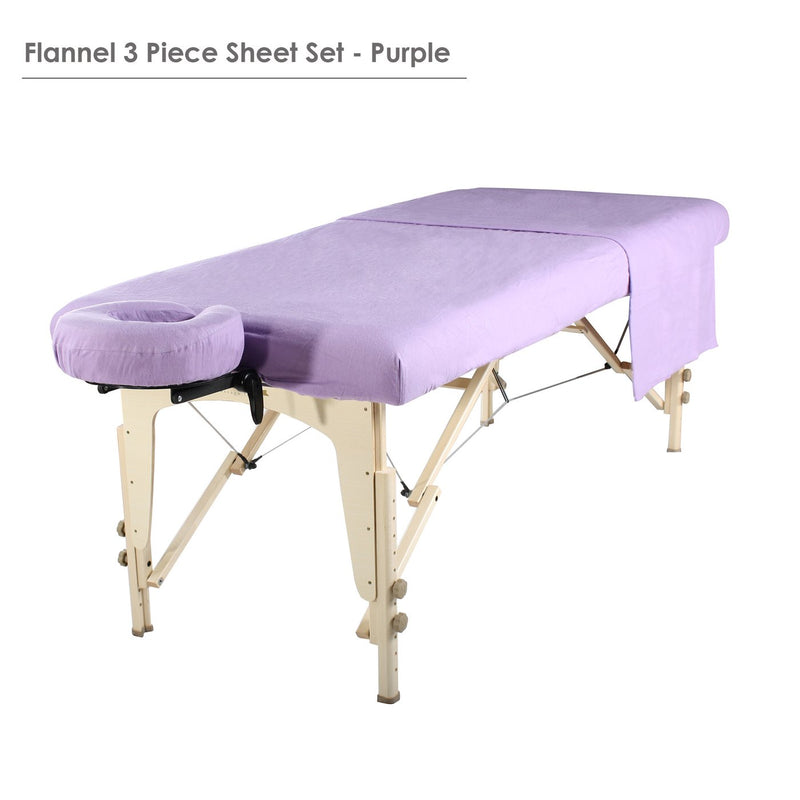 Master Massage Deluxe Massage Table Flannel 3 Piece Sheet Set