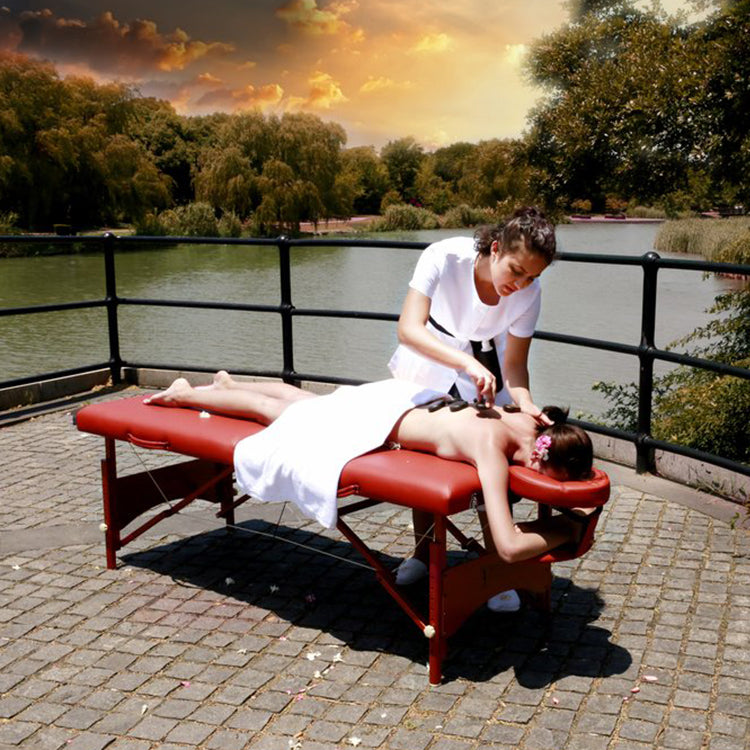 "Master Massage 28"" Fairlane Therma-Top Portable Massage Table Package"