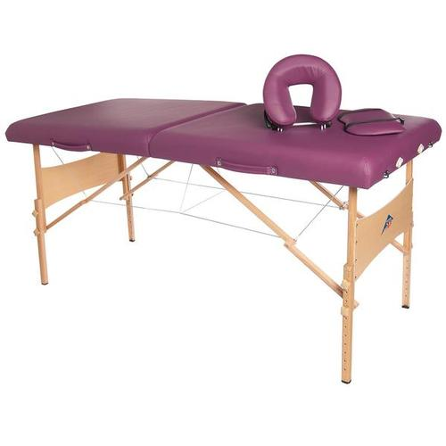 3B Deluxe Portable Massage Table - Burgundy