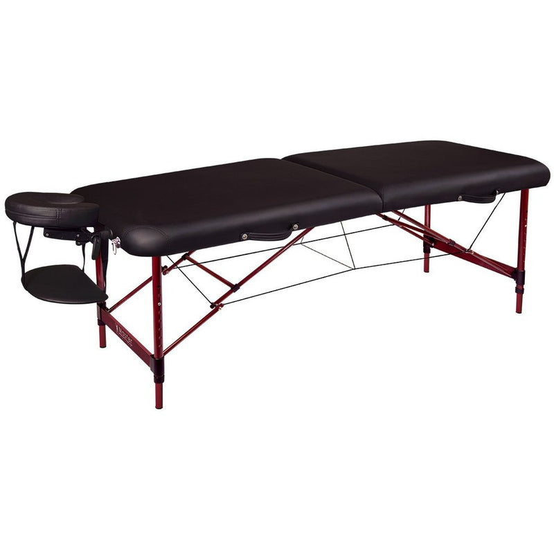 Master Massage 28 Inch Zephyr Portable Massage Table Package, Black Color - MyMassageTable