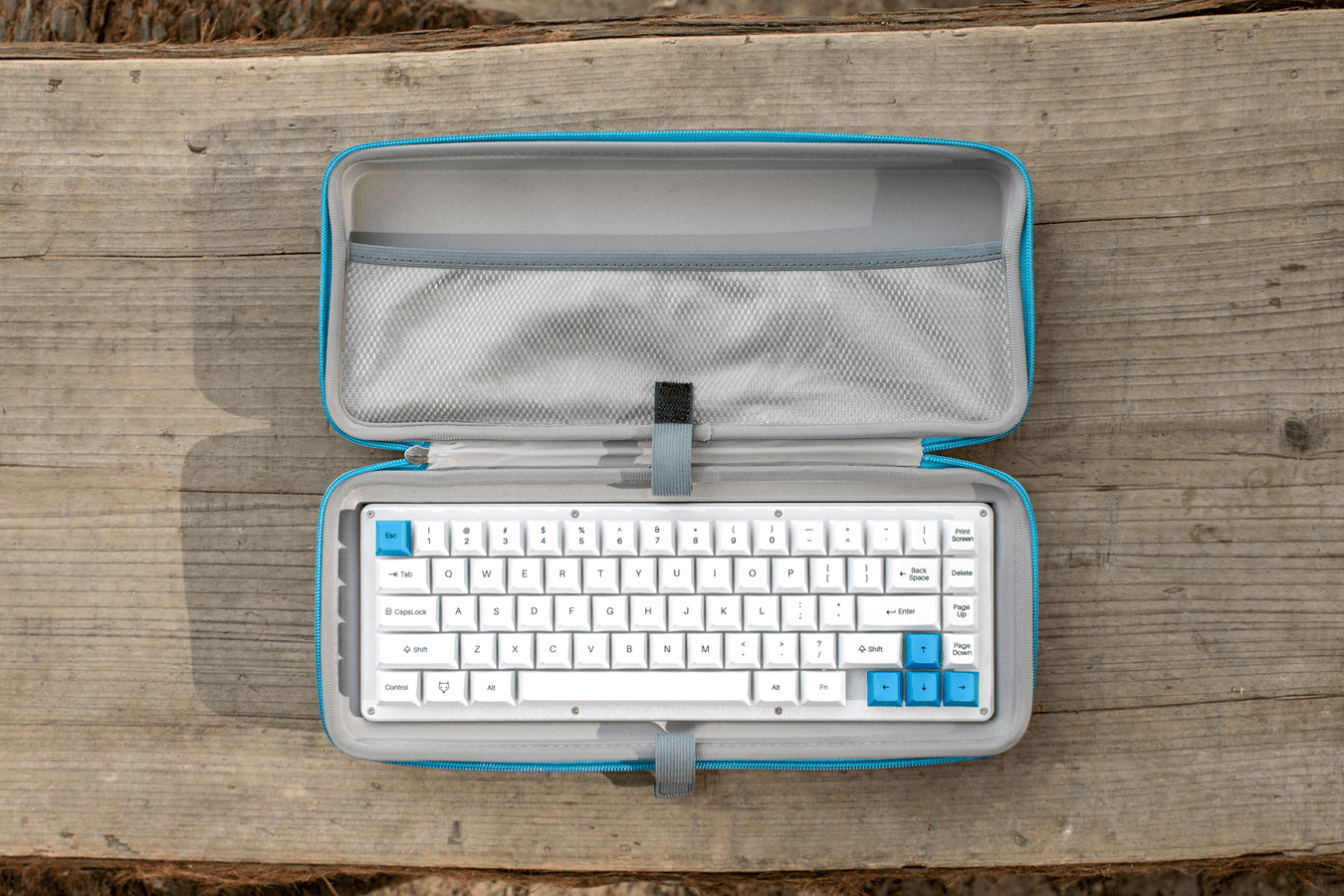 WhiteFox Mechanical Keyboard in a Carrying Case