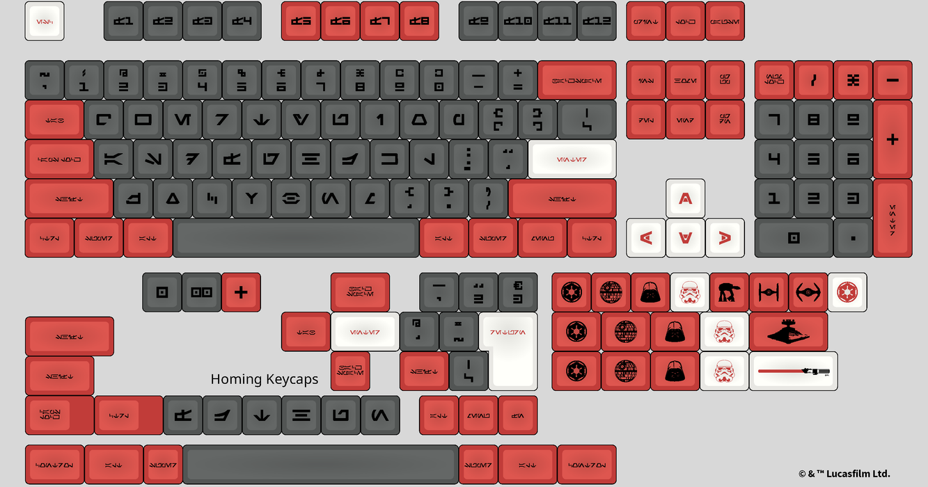 Full Aurebesh DSA Galactic Empire Mechanical Keyboard Keycap Set