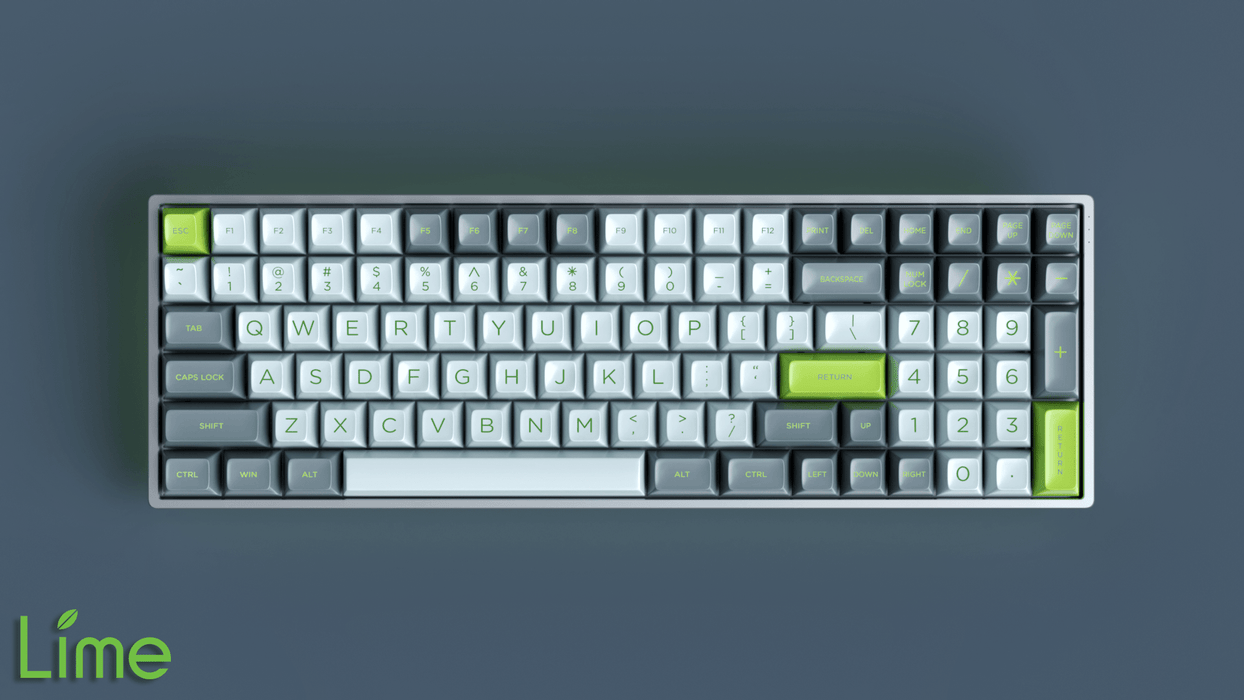 Maxkey Lime on a 96 Key Mechanical Keyboard