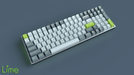 Maxkey Lime on a 96 Key Mechanical Keyboard Angled