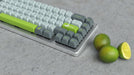 Maxkey Lime Keycap Set on a WhiteFox Mechanical Keyboard with Limes