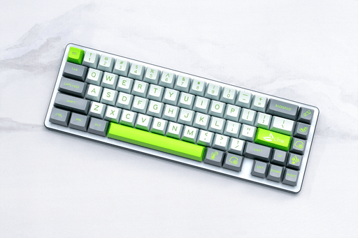 Maxkey Lime Keycap set by kingnestea on GMK Camping Keycap Set themed Desk Mat by Novelkeys