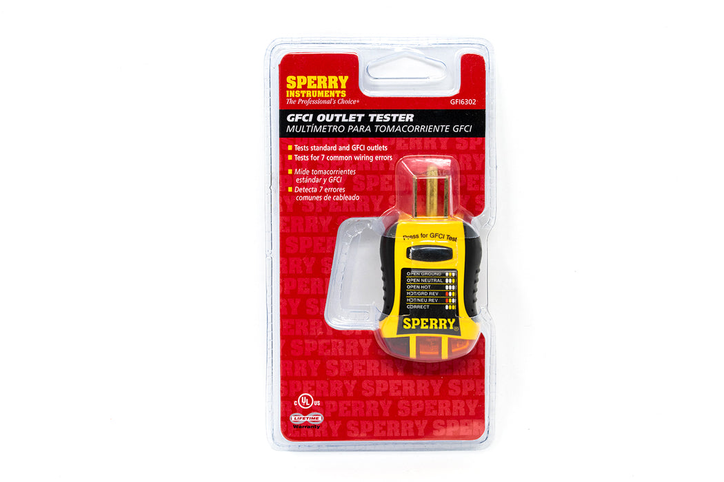 Sperry Instruments GFCI Outlet Tester
