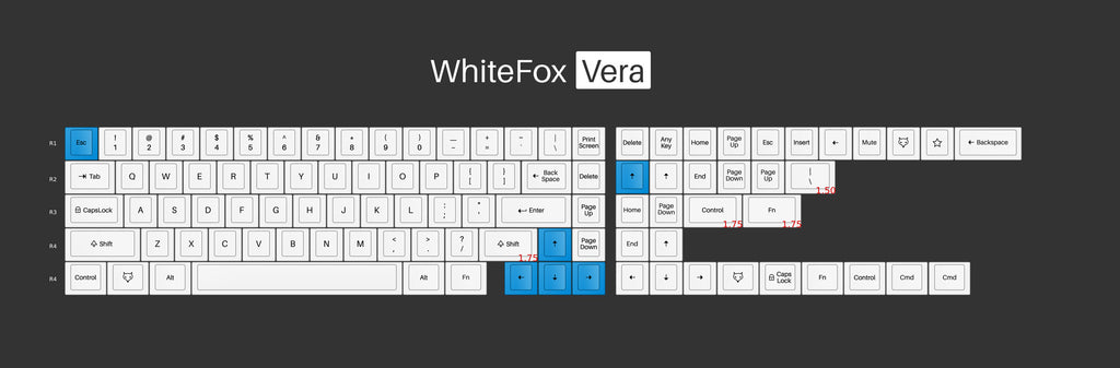 WhiteFox Keycap Set