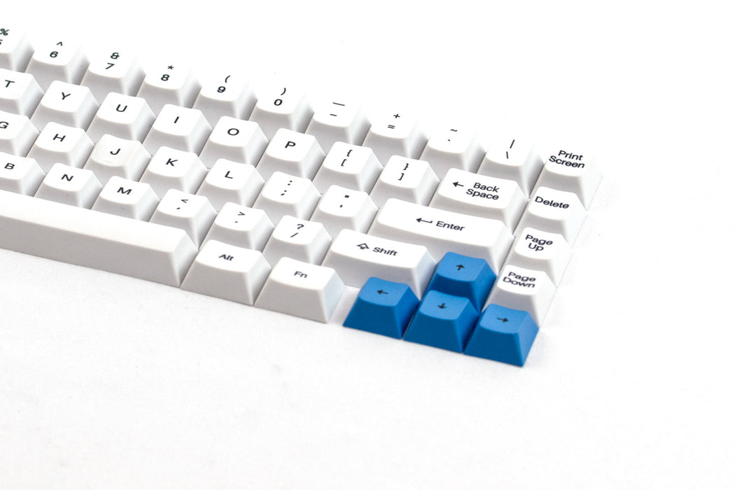 A closeup shot of the WhiteFox Keycap Set