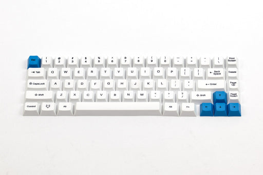 A topdown shot of the WhiteFox Keycap Set