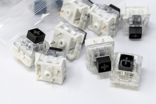 Close Up of Kaihl Box Black Mechanical Switches Manufactured by Kaihua