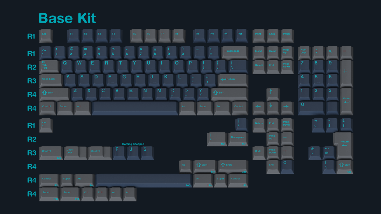 GMK Calm Depths Mechanical Keyboard Keycap Set