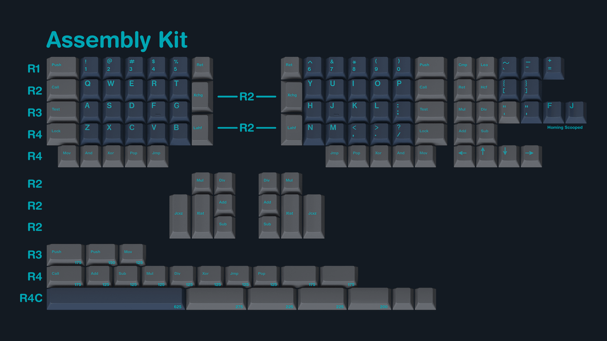 GMK Calm Depths Mechanical Keyboard Keycap Set - Assembly Kit