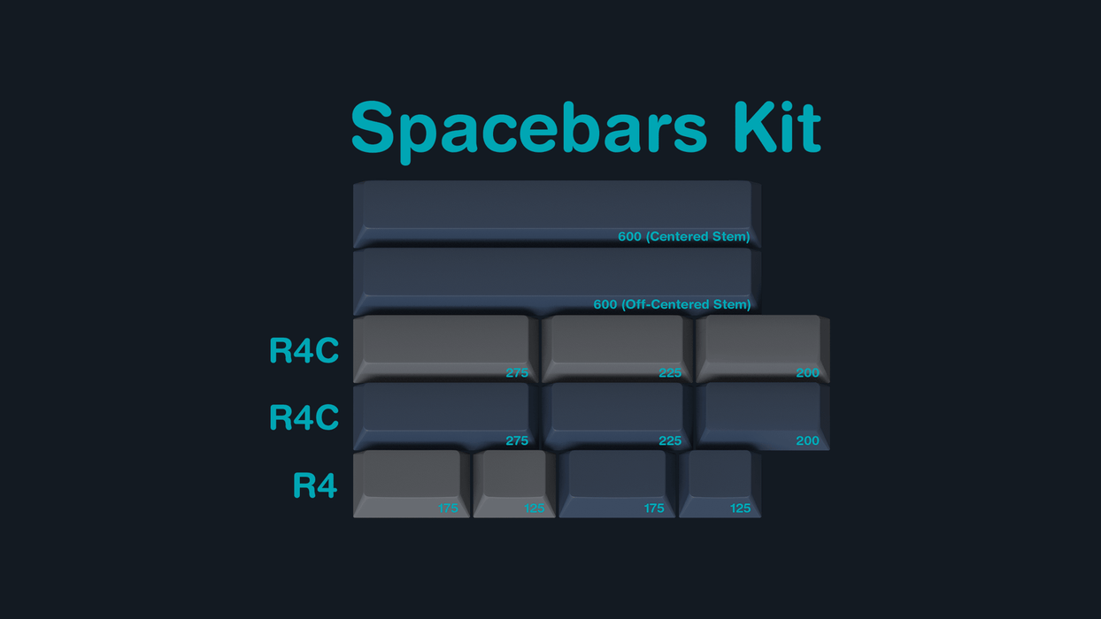 GMK Calm Depths Mechanical Keyboard Keycap Set - Spacebars Kit