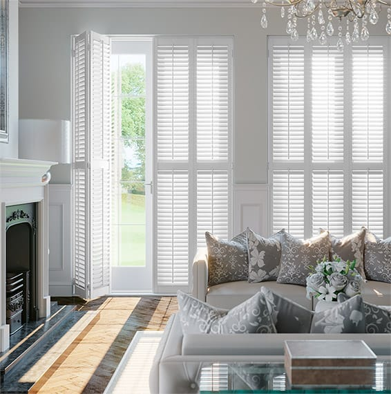 Bifold wood shutters Bristol Paul Christian
