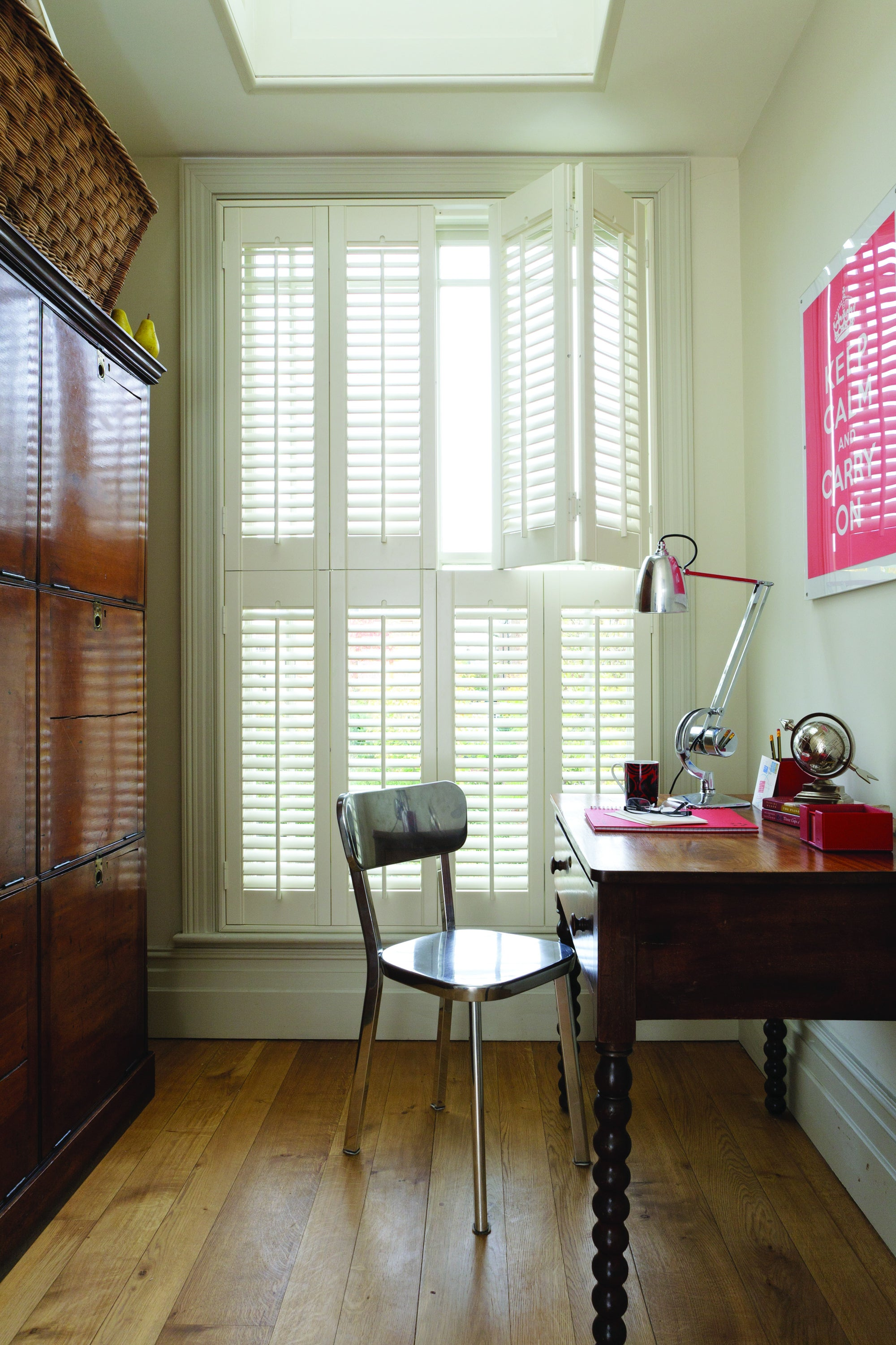 Bifold wooden shutters for home office Paul Christian Bristol