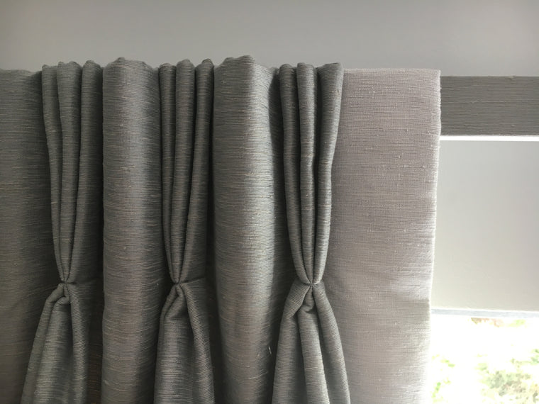 pleated headed curtains