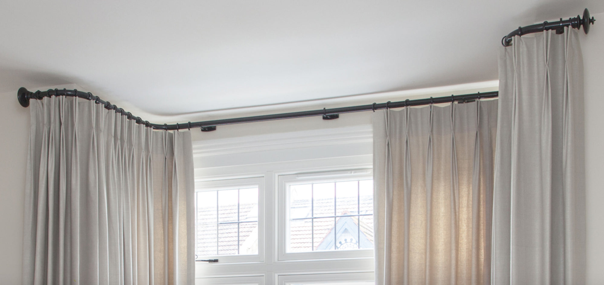 Bay Window curtain poles Bristol Paul Christian
