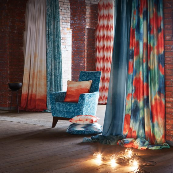 Wide range of designer curtain material in Bristol from Paul Christain
