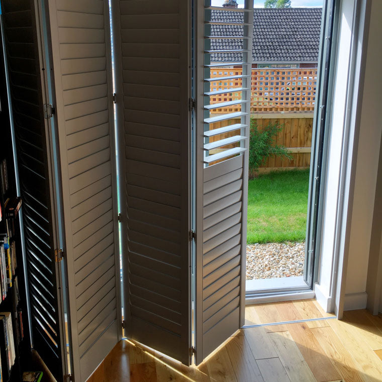 Tracked shutters measure and fit Paul Christian Bristol