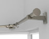 Modern Brushed Nickel Curtain Pole made to measure