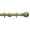 45mm Origins Wooden Curtain Pole with Ball Finial