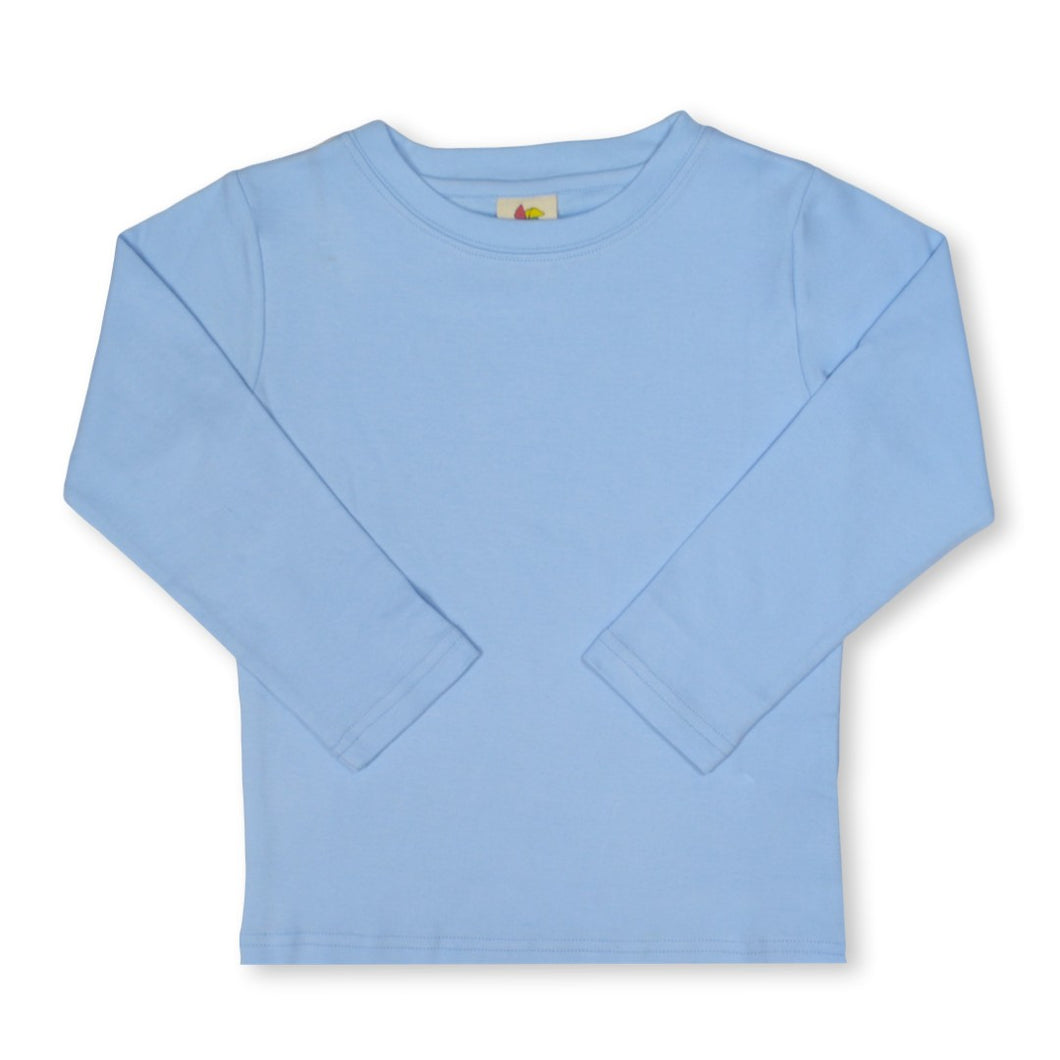 Sky Long Sleeve Plain Tee
