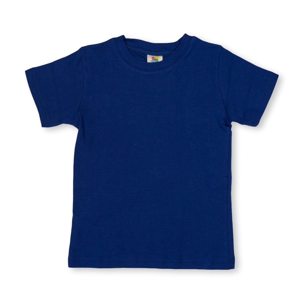 Navy Short Sleeve Plain Tee