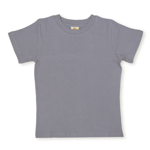 Gray Short Sleeve Plain Tee