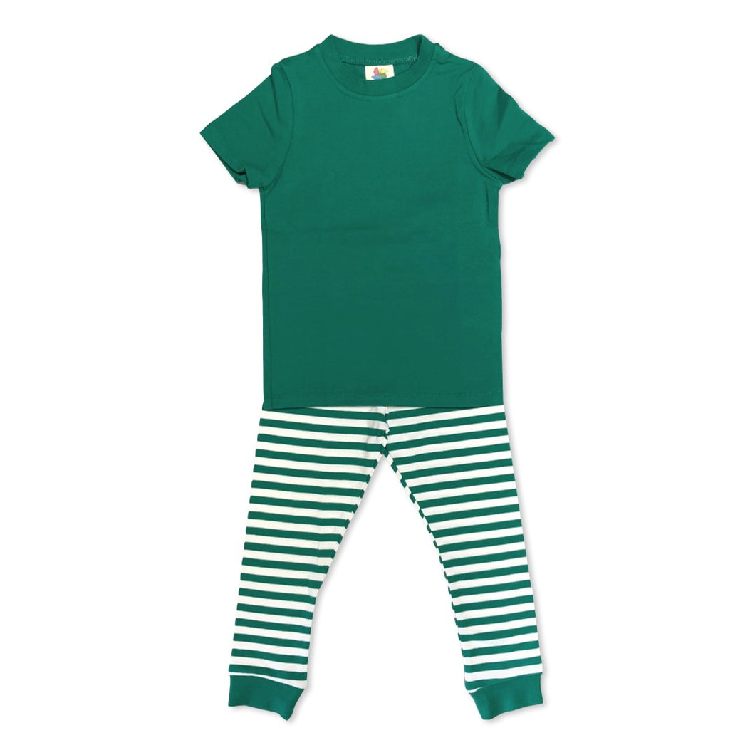 Green Short Sleeve Pajamas