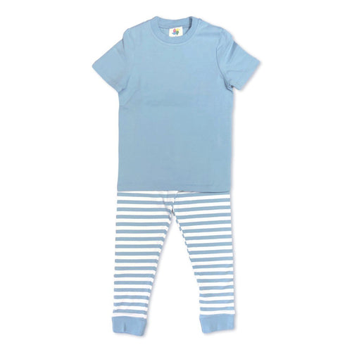 Sky Blue Short Sleeve Pajamas
