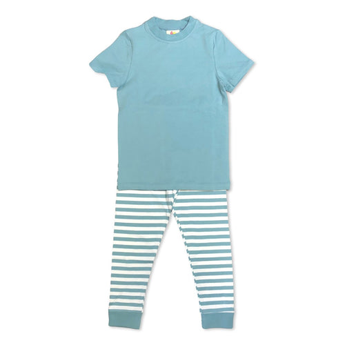 Steel Blue Short Sleeve Pajamas Past Season