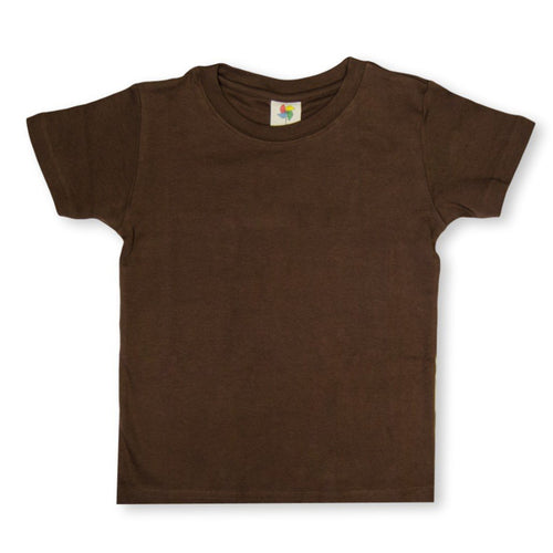 Brown Short Sleeve Plain Tee