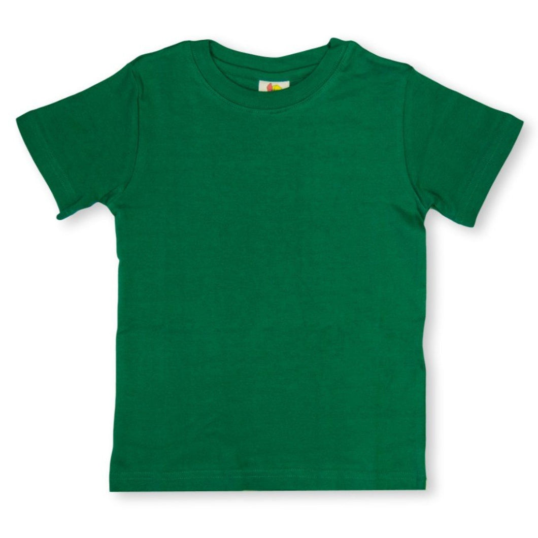 Green Short Sleeve Plain Tee
