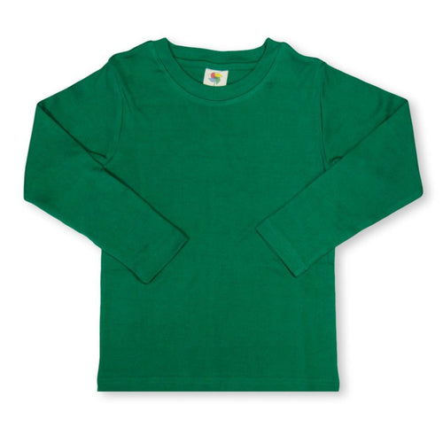 Green Long Sleeve Plain Tee