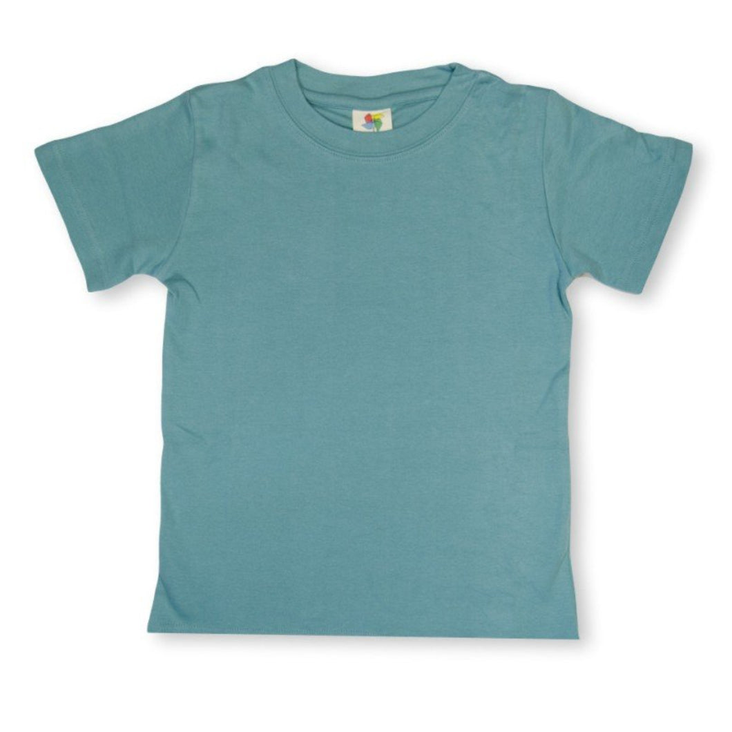 Steel Blue Short Sleeve Plain Tee