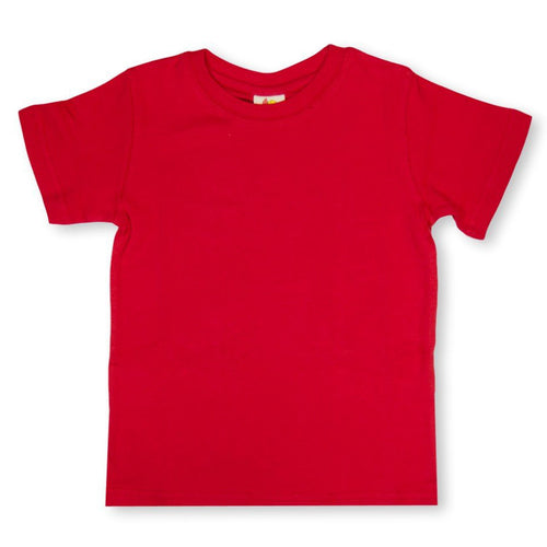 Red Short Sleeve Plain Tee