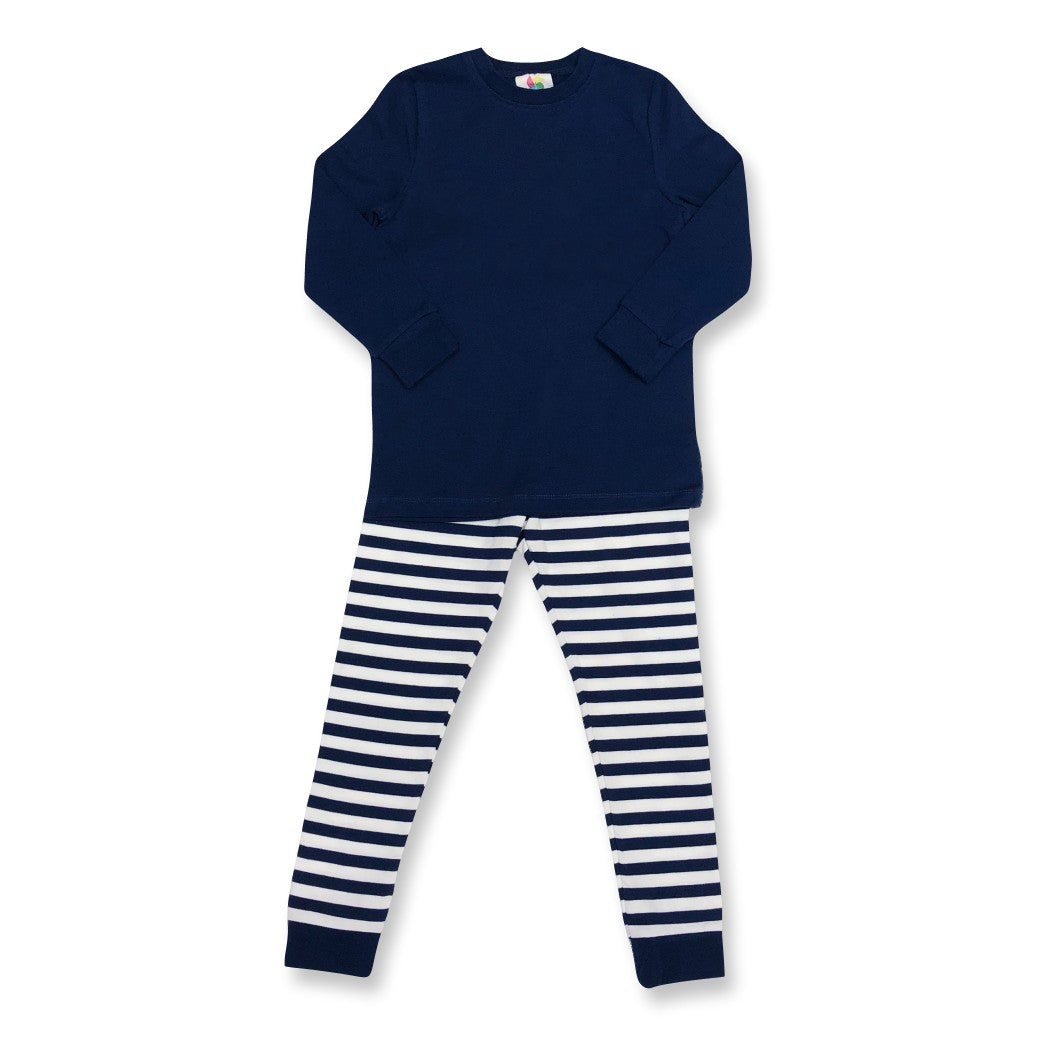 Navy Long Sleeve Pajamas