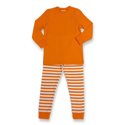 Orange Long Sleeve Pajamas Past Season